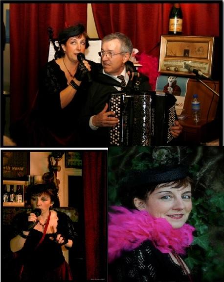 « Miss' Guinguette » et Michel Pimor à l'accordéon